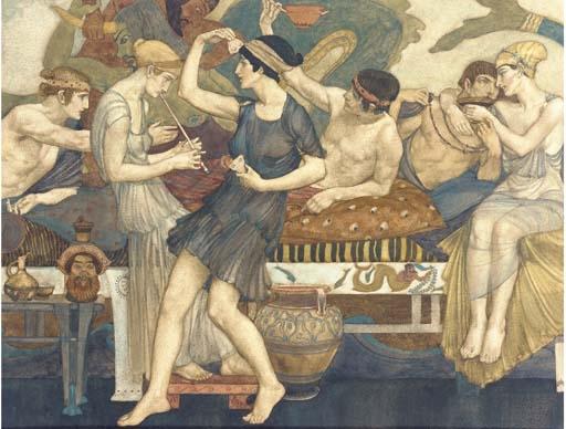 Sir William Russell Flint | Homer's Odyssey No. 3 Book I | MutualArt