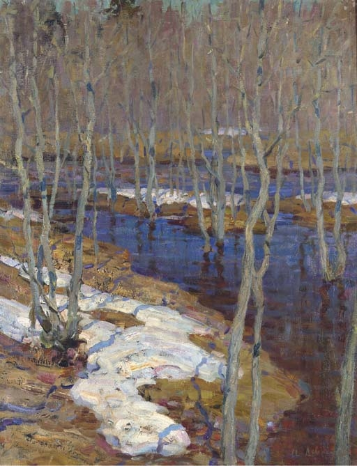 Levitan Isaak | The thaw | MutualArt