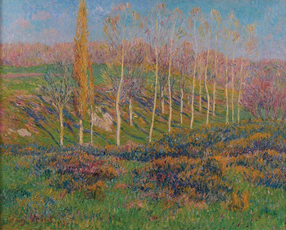 Moret Henri | Les peupliers en avril, Bretagne (1899) | MutualArt