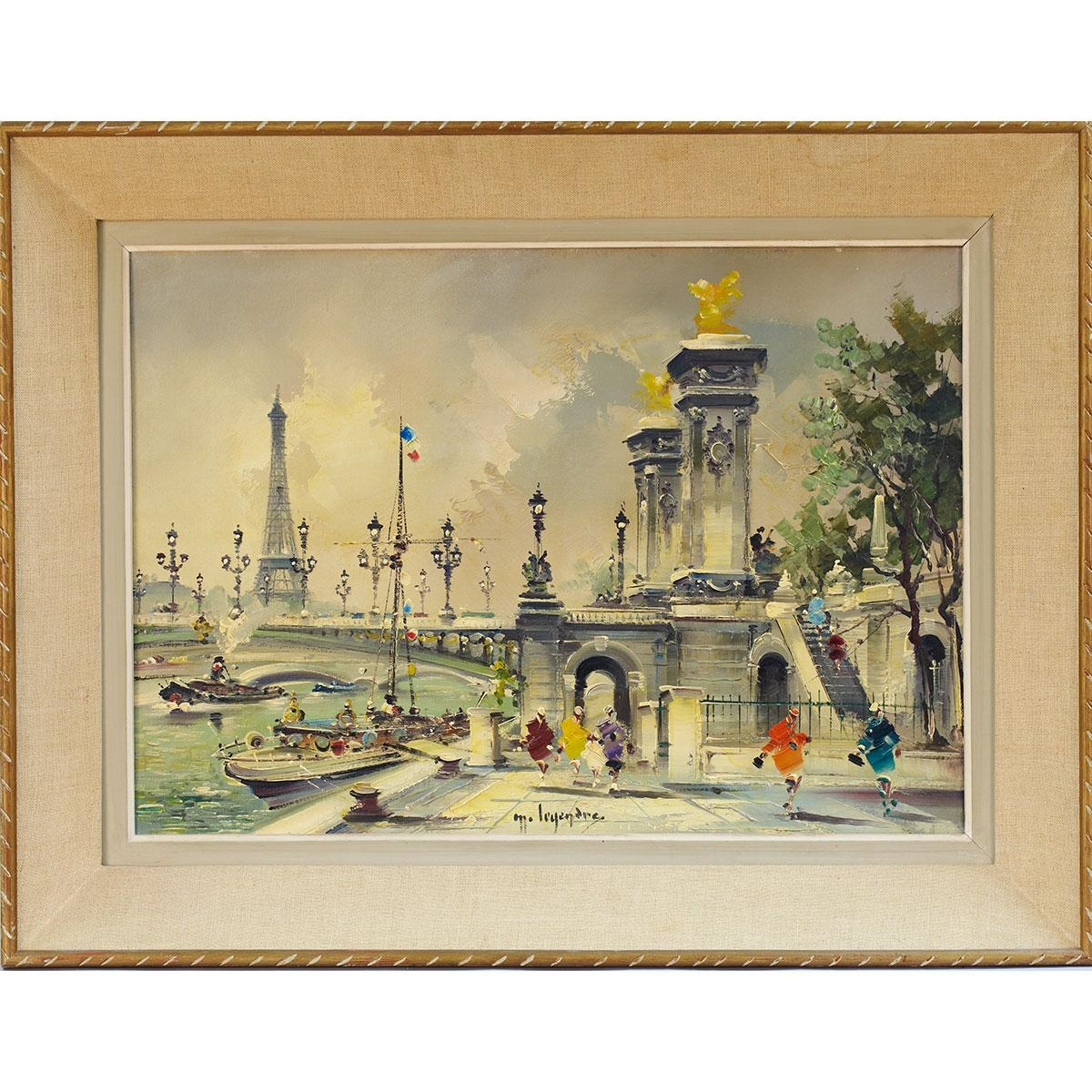 Maurice Legendre Le Pont Alexandre Iii Et La Tour Eiffel Paris Mutualart