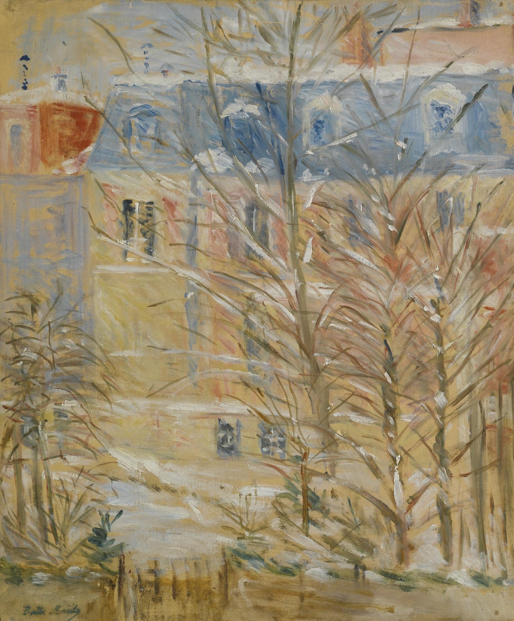 Morisot Berthe | MAISONS SOUS LA NEIGE (1886) | MutualArt