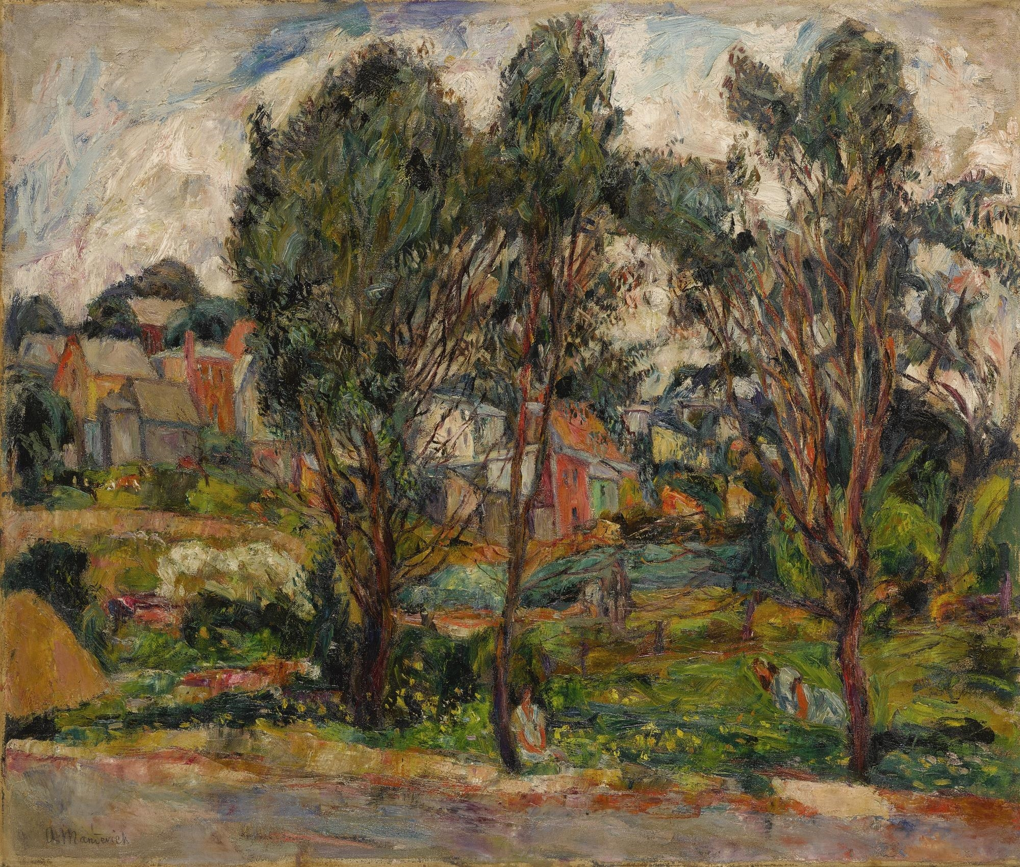 Картинки по запросу abraham manievich townscape with trees