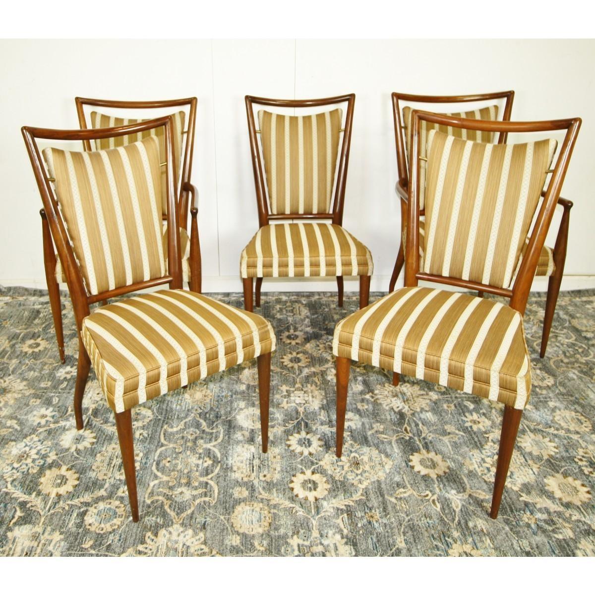 Widdicomb John A Set Of Six Striped Widdicomb Dining Chairs Mutualart