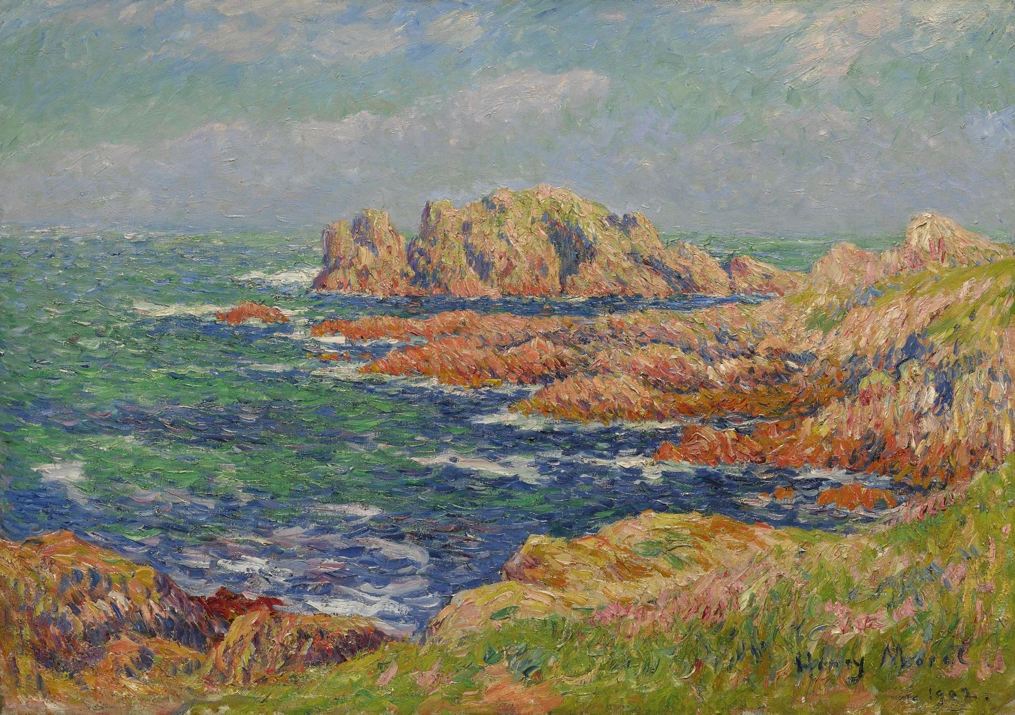 Moret Henri | Les Rochers à Quessant (1902) | MutualArt