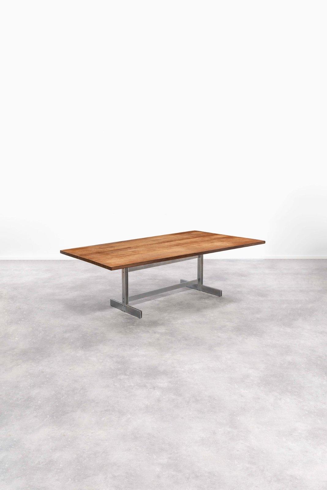 Demi Tonneau En Bois wabbes jules | table à plateau en demi tonneau (circa 1960