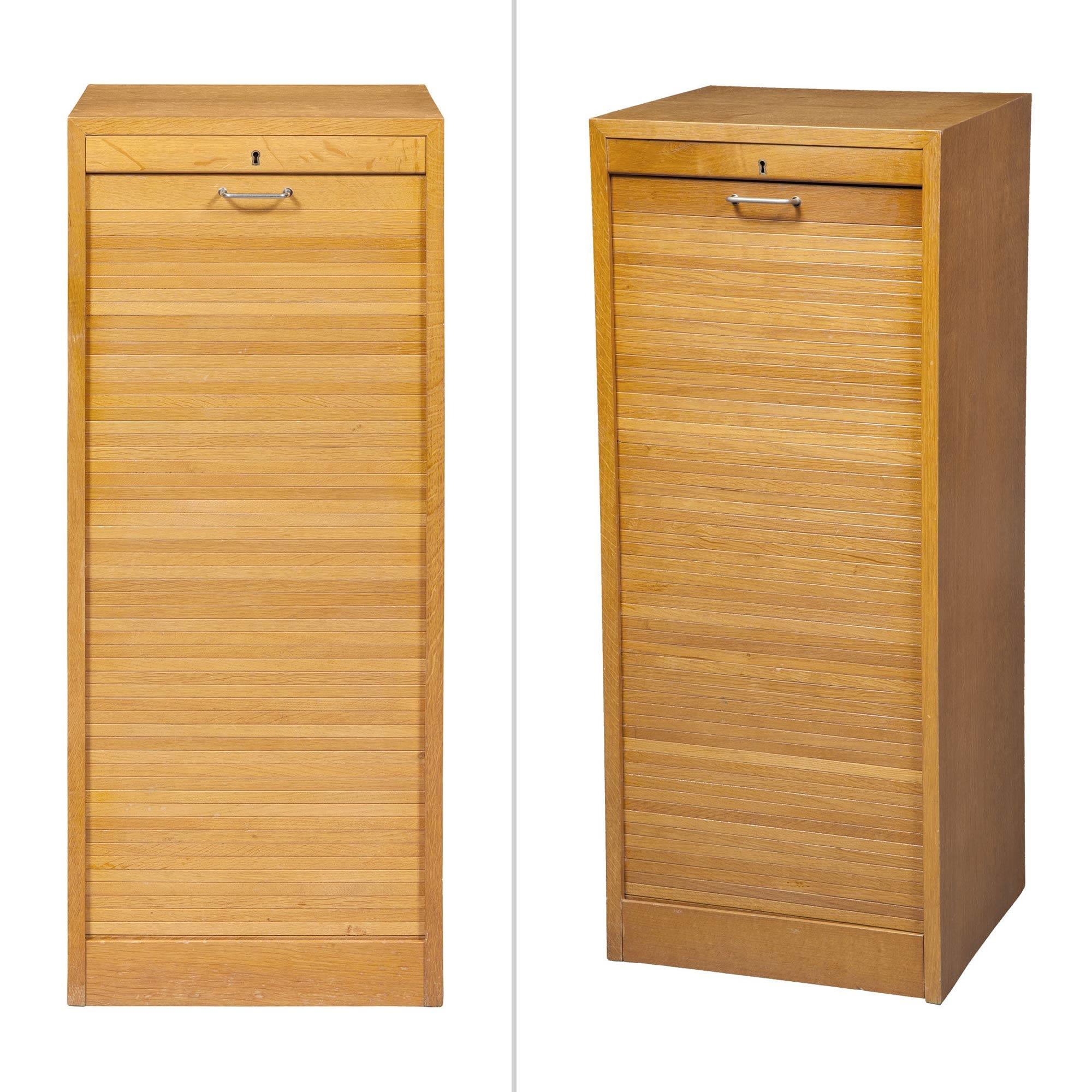 Hans J.Wegner  Pair of Tambour Cabinets  MutualArt