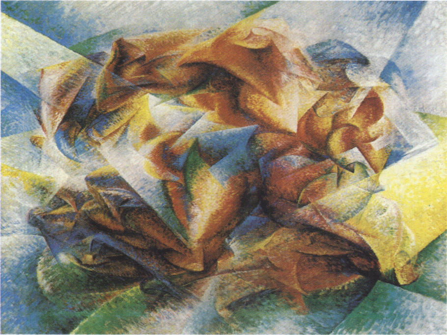 an analysis of umberto boccionis dynamism of a soccer player Narrator: umberto boccioni was a member of the italian futurists, a group of artists active around world war i they glorified the energy of modern life by painting trains, automobiles, machines, and figures bursting with motion here, boccioni depicts a soccer player curator ann temkin: curator, ann temkin: although this seems like an entirely abstract composition to many people who look at.