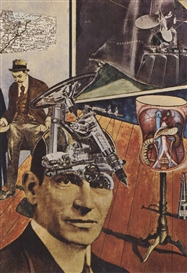 Artwork by Raoul Hausmann, Tatlin at Home, Made of Collage and gouache