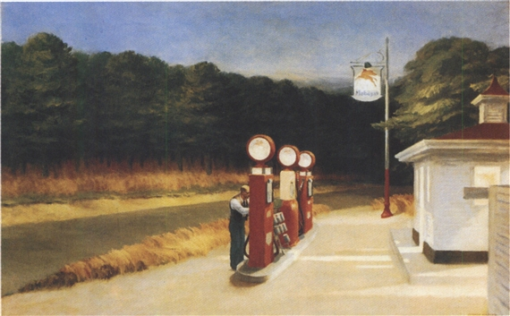 Artwork by Edward Hopper, Gas, Made of Oil on canvas