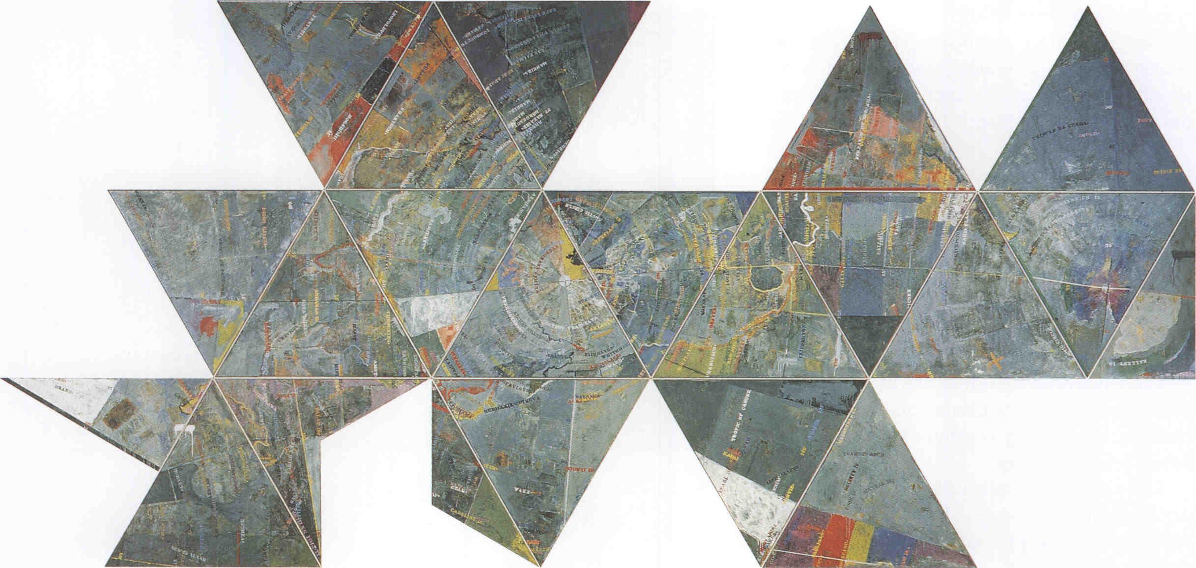 Map painting Map Art Print By Jasper Johns At Art