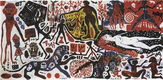 Penck, Ich in Deutschland (West), 1984