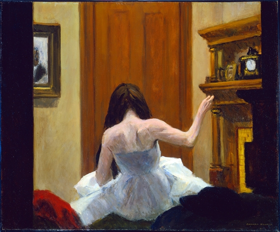 Artwork by Edward Hopper, New York Interior, Made of Oil on canvas