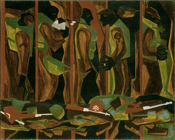 Jacob Lawrence | War Series: Another Patrol (1946) | MutualArt