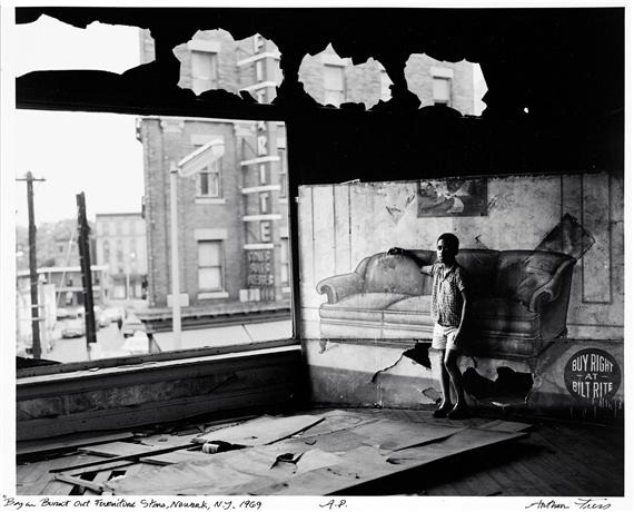 Artwork By Arthur Tress, Boy In Burnt Out Furniture Store, Newark, N.J.,