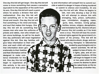 One Day, This Kid... By David Wojnarowicz ,1990