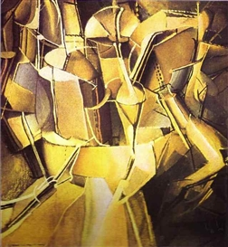 Artwork by Marcel Duchamp, Transition of Virgin into a Bride/Le Passage de la Vierge la Marie