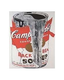andy warhol big torn campbell 39 s soup can black. Black Bedroom Furniture Sets. Home Design Ideas