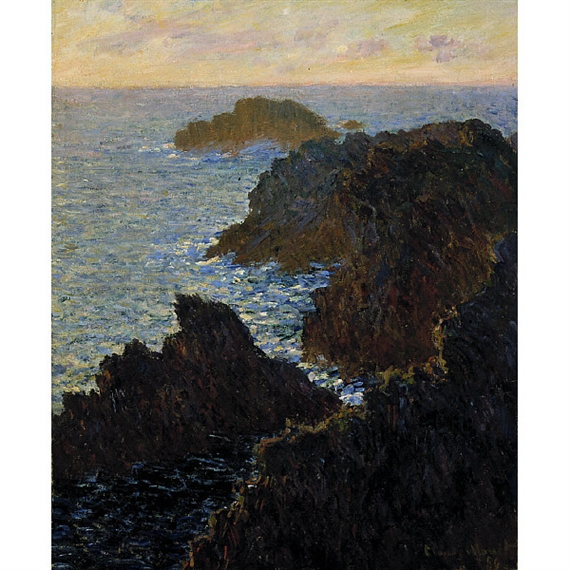 Artwork by Claude Monet, Rocks at Belle-Isle, Port-Domois, Made of oil on canvas