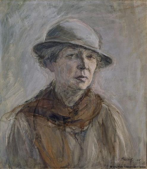 Thesleff Ellen | Self-Portrait with Hat (1935) | MutualArt
