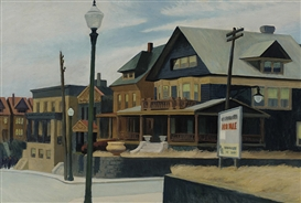 Artwork by Edward Hopper, East Wind over Weehawken, Made of Oil on canvas