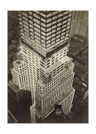 Artwork By Walker Evans Chrysler Building Construction New York City Made Of Gelatin