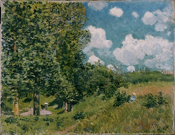 Artwork by Alfred Sisley, The Road from Versailles to Saint-Germain, Made of Oil on canvas