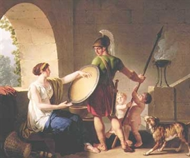 Jean-Jacques-Francois Le Barbier, Spartan woman giving the shield to her son