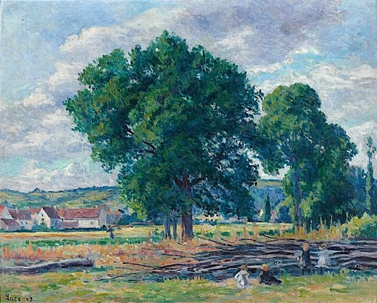 Artwork by Maximilien Luce, PAYSAGE ANIME A MOULINEUX, Made of Oil on canvas
