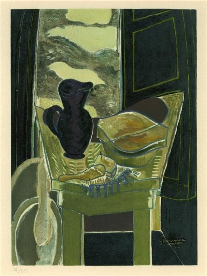Georges braque le ciel bleu 1962 lithograph for Fenetre toilette