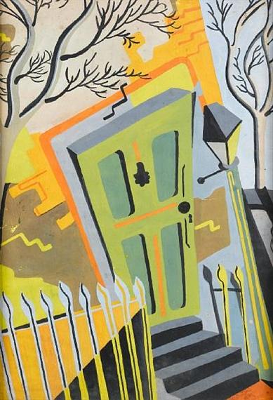 Artwork by John Minton Door Made of gouache & Minton John   Door (1935)   MutualArt