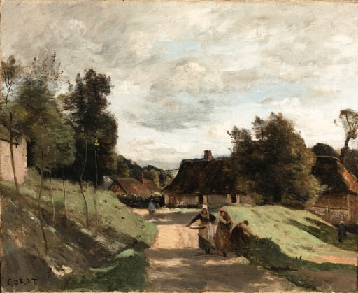 Artwork by Jean Baptiste Camille Corot, Près de Moulin, Chierry, Aisne, Made of oil on canvas