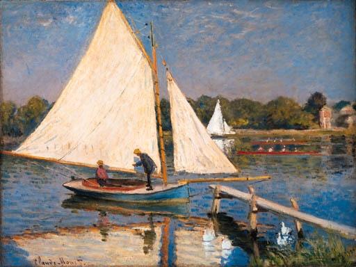 Artwork by Claude Monet, Canotiers  Argenteuil