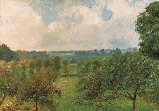 Artwork by Camille Pissarro, Aprs la pluie, automne, Eragny