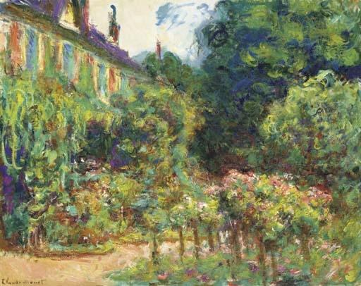 Artwork by Claude Monet, La Maison de l'artiste à Giverny, Made of oil on canvas