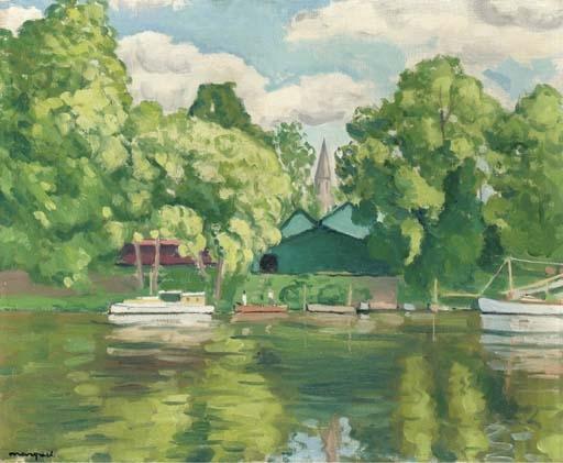 Artwork by Albert Marquet, La Seine à Passy, Made of oil on canvas