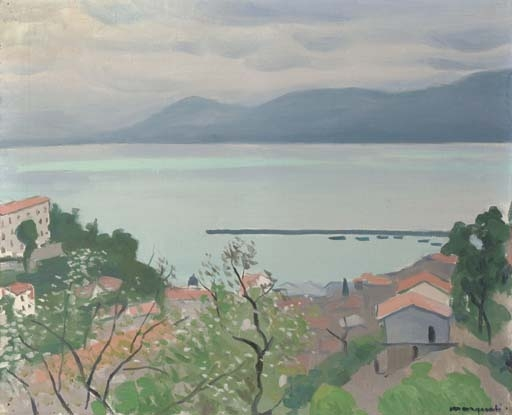 Artwork by Albert Marquet, La jetée vue des hauteurs, Bougie, Algérie, Made of oil on canvas