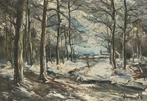 Artwork by Maurice de Vlaminck, Paysage de neige, Made of oil on canvas