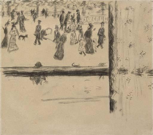 Artwork by Pierre Bonnard, Boulevard des Batignolles
