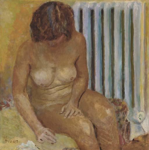 Artwork by Pierre Bonnard, Nu au radiateur, Made of oil on canvas