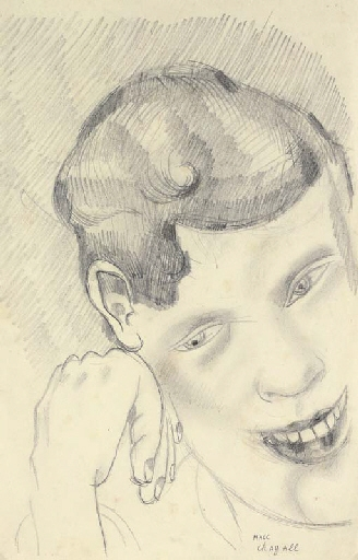 Artwork by Marc Chagall, Le frère David, Made of pencil on paper