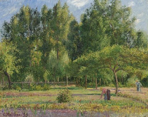Artwork by Camille Pissarro, Les peupliers, après-midi à Eragny, Made of oil on canvas