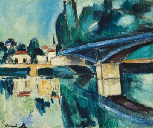 Artwork by Maurice de Vlaminck, Le Pont de Nogent, Made of oil on canvas