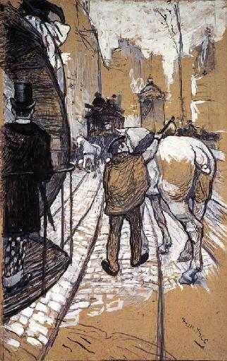 Artwork by Henri de Toulouse-Lautrec, Le côtier de la compagnie des omnibus