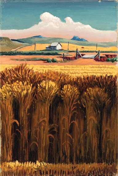 the importance of actually seeing the piece of art by thomas hard bentons cradling wheat