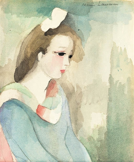 Laurencin marie 1599 artworks mutualart - Fille brune au yeux bleu ...