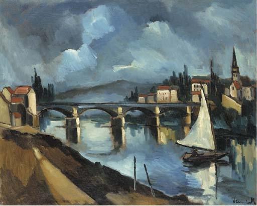 Artwork by Maurice de Vlaminck, La Seine à Chatou, Made of oil on canvas
