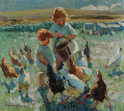 Image result for feeding the chickens