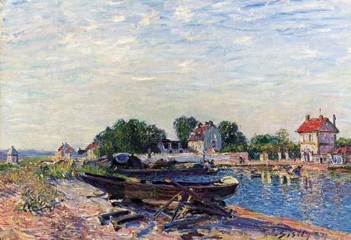 Artwork by Alfred Sisley, Le Loing à Saint-Mammès