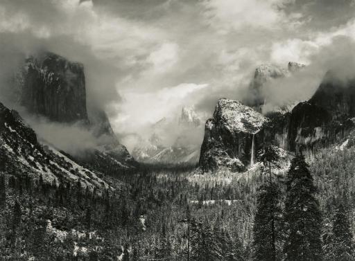 Adams Ansel | Clearing Winter Storm, Yosemite Valley, 1944 ... Ansel Adams Clearing Winter Storm Analysis