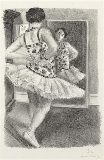 Artwork by Henri Matisse, Danseuse reflétée dans la glace (D. 490)